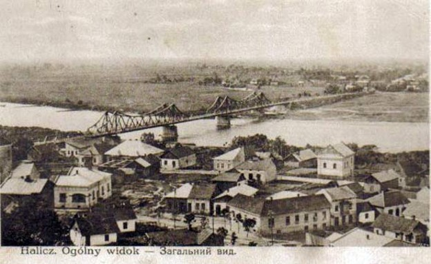Image - An old postcard of Halych.