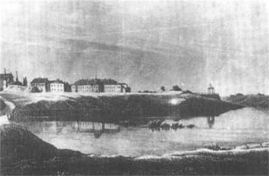 Image - 18th-century lithograph with a view of Iziaslav,